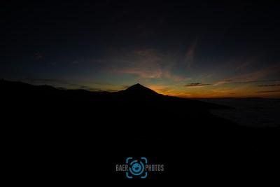 Landschaft-Baer.Photos-Fotograf-Holger-Bär-Sonnenuntergang-Teneriffa-Wolken-Berge-Vulkan