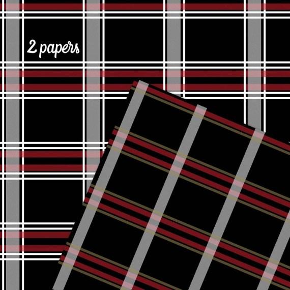 Plaid Scrapbook Paper