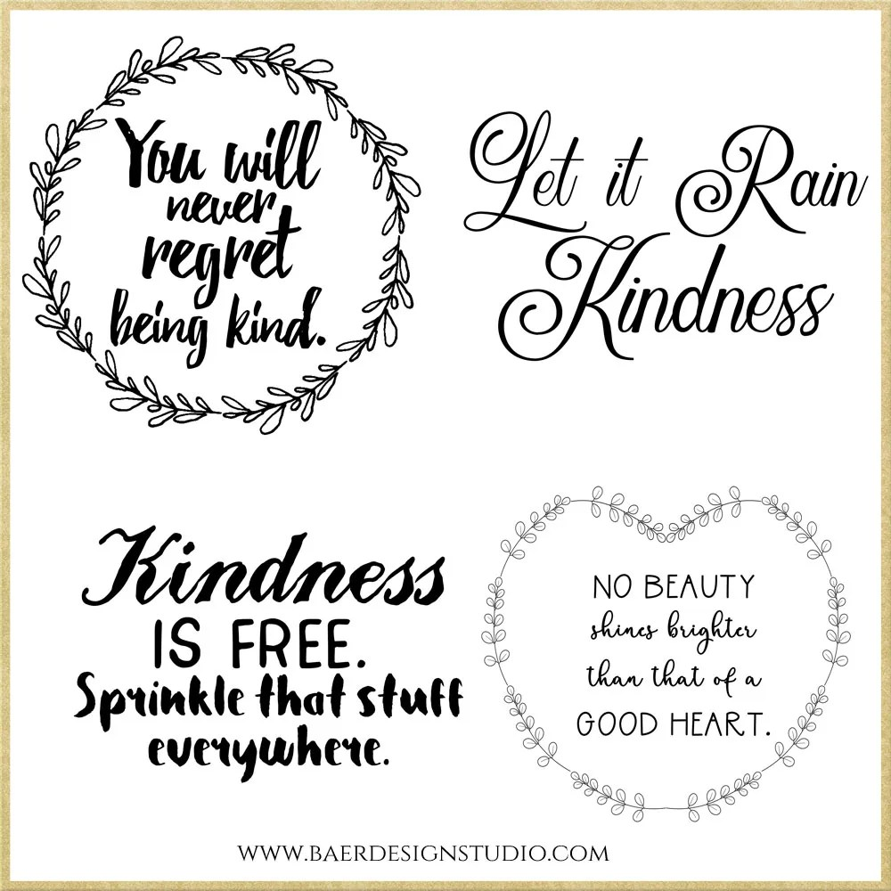 Kindness Quotes Scrapbooking Quotes Bible Journaling Baer Design