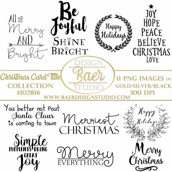 Christmas card titles