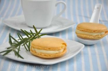 Zitronen Rosmarin Macarons