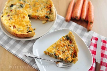 Karotten Mangold Quiche