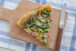 Spargel Bärlauch Pizza