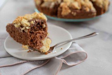 Schoko Birnen Kuchen mit Vanille Streusel