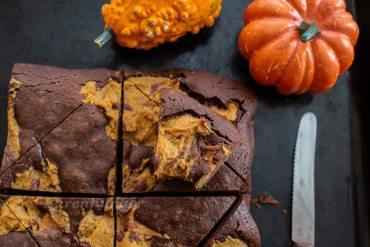 Kürbis Brownies