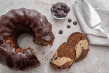 Brownie Gugelhupf mit Cookie Dough