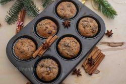 Lebkuchen Muffins mit Schokoladenchips