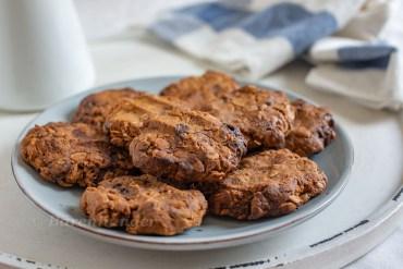 Erdnussbutter Haferflocken Schoko Cookies