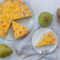 Birnen Käsekuchen mit Vanille Mürbteig