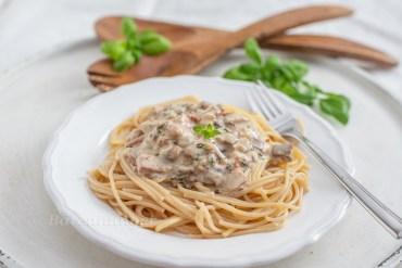 Spaghetti mit Maroni Sauce