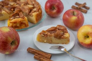 Ricotta Kuchen mit Zimtäpfeln