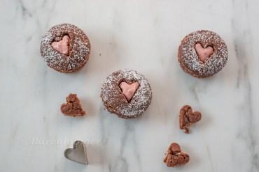Valentinstags Schoko Herz Muffins