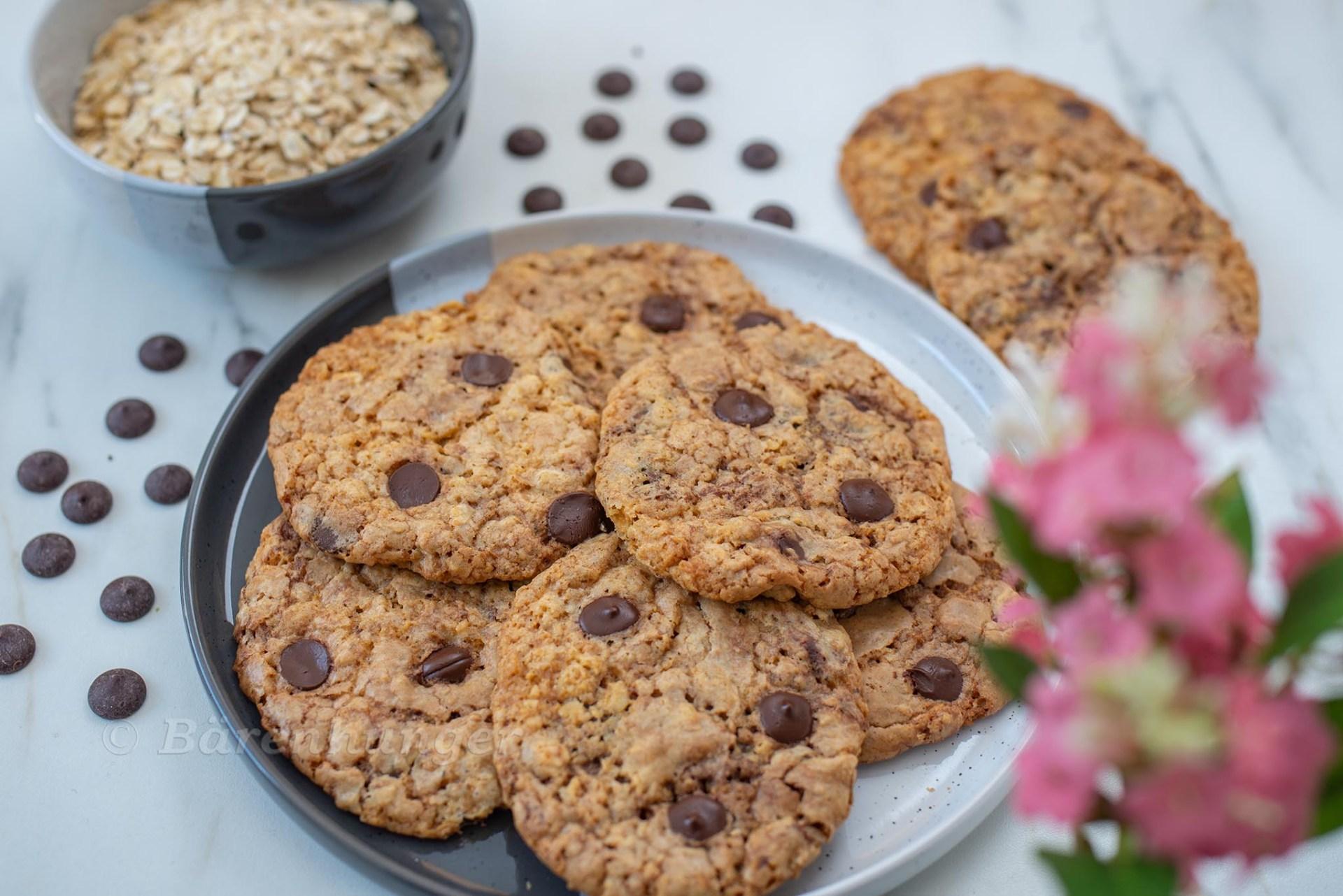 Haferflocken Schoko Cookies