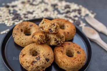 Haferflocken Dinkel Donuts mit Schokostücken