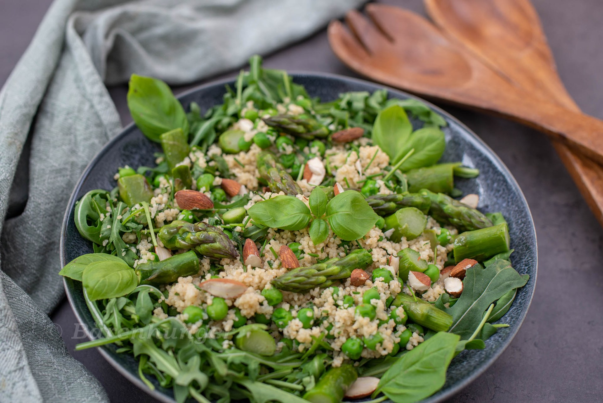 Grüner Couscous Frühlingssalat