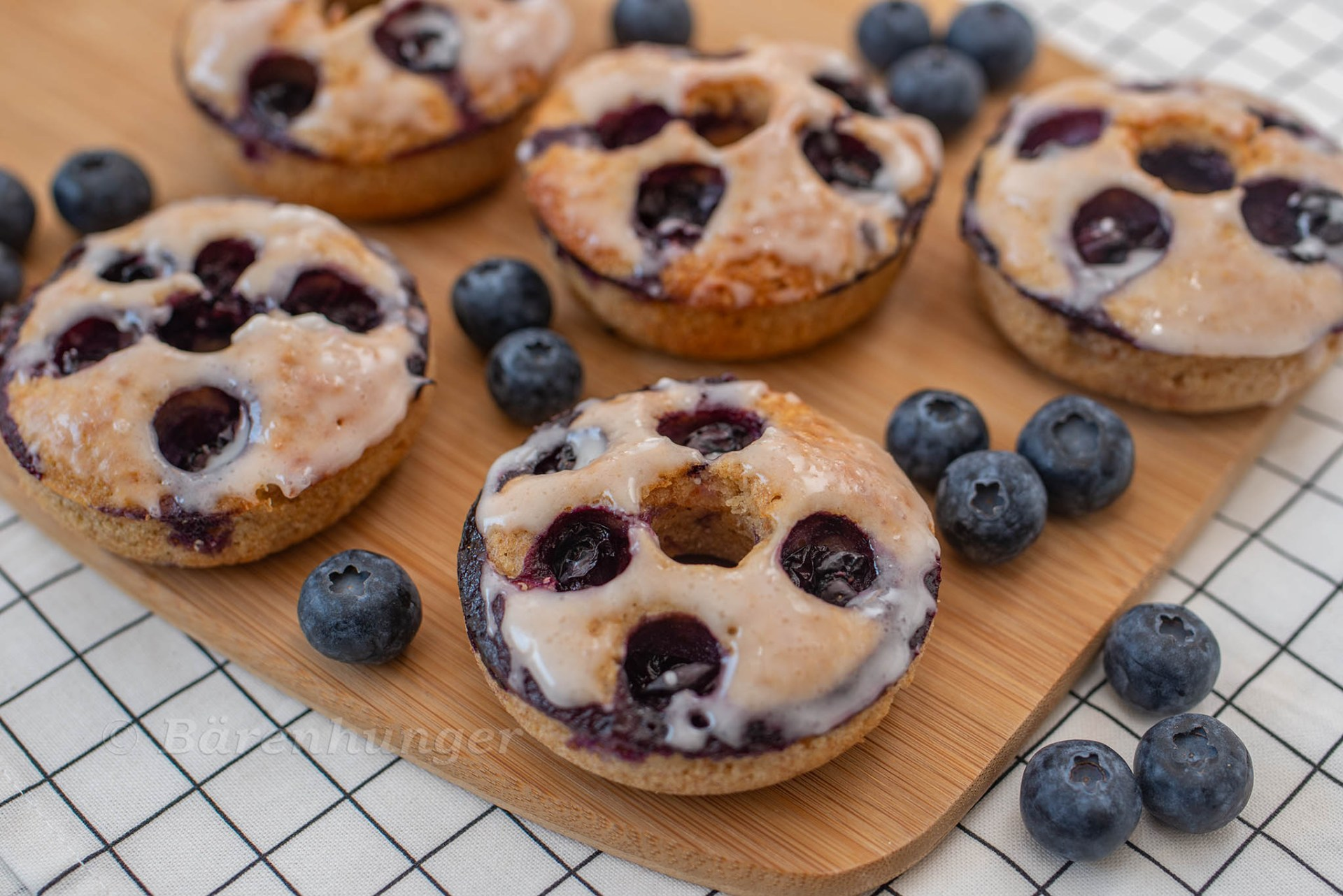 Heidelbeer Vanille Donuts
