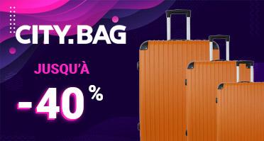 -40% sur la collection de valises City Bag