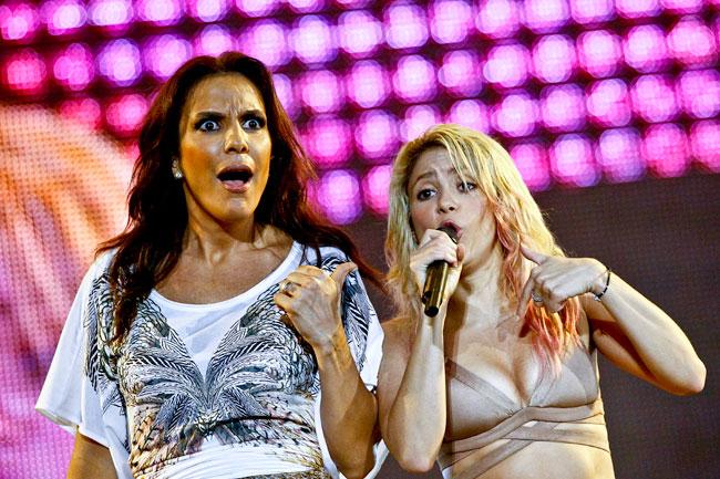 Shakira e Ivete Sangalo (foto: ©Rock in Rio 2011 / Bruno de Lima/R2 / Getty Images)