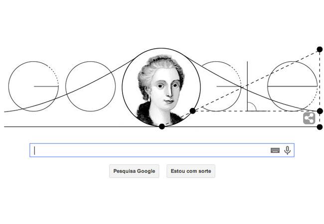 Maria Gaetana Agnesi ganha homenagem do Google (reprodução)