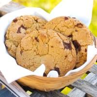 Bløde cookies med chokolade