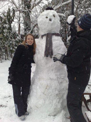 Sarah and Snowman