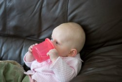 Just drinking and watching the telly