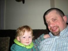 On Dad's lap