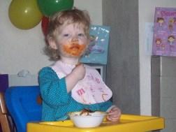 Spaghetti eaten seriously