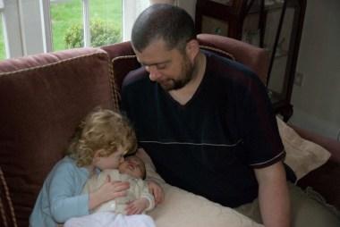 Daddy, Éowyn and Amélie