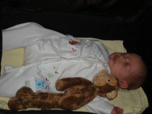 Amélie asleep