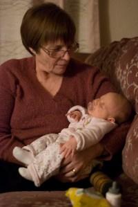 Asleep on Nanny Fran