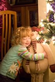 A hug for the snowman