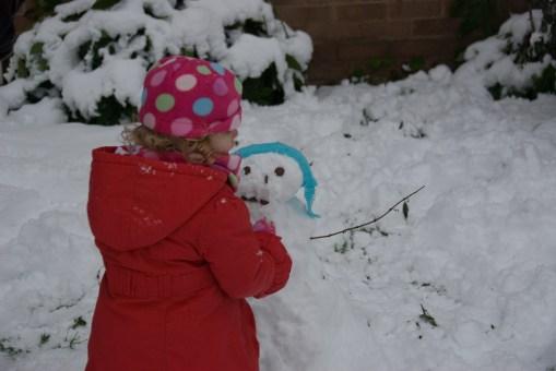 My first snowman