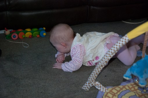 Get into crawling position