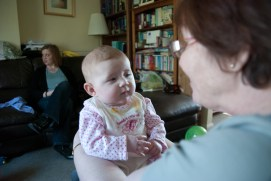 Looking at my Nanny Fran