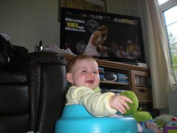 I'm watching the tennis!