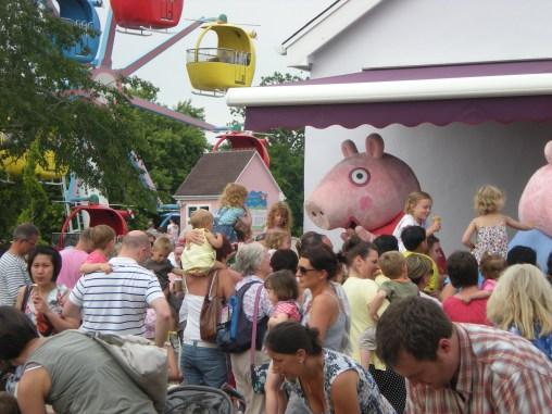 Meeting Peppa Pig