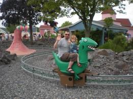 All aboard, a dinosaur?