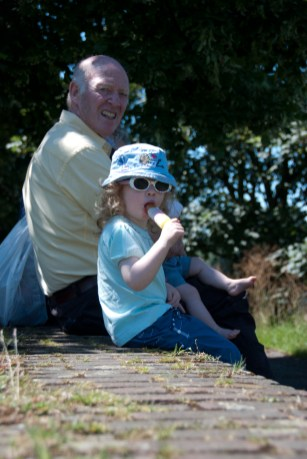 Ice lolly and Granddad