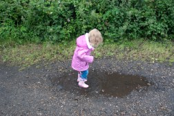 ...in muddy puddles!