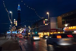 Blackpool, at night