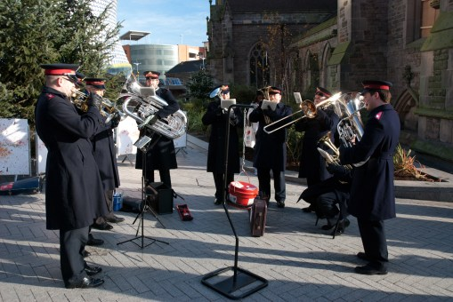 The Salvation army band played