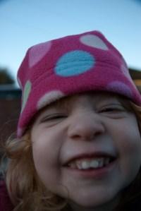 Cheesy grin!