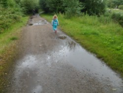 Short cut, through the puddles