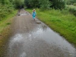 Short cut, through the puddles