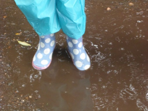 Welly clad!
