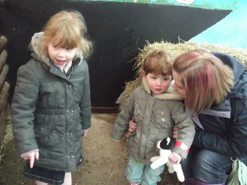 On the farm with Auntie Liz