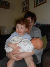 Holding my brother