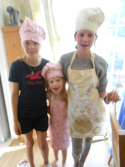 Baking with my cousins