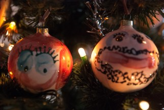 Mommy and Daddy Christmas Baubles